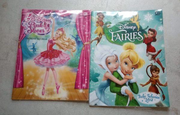 Buku Komik Cerita Bergambar- Disney Fairies dan Barbie Pink Shoes (2 buku)