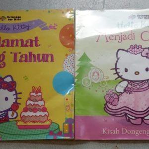 Buku Cerita Bergambar - Hello Kitty Menjadi Cinderella dan Selamat Ulang Tahun (2 buku)