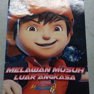 Buku Mewarnai - Boboiboy Galaxy Melawan Musuh Luar Angkasa