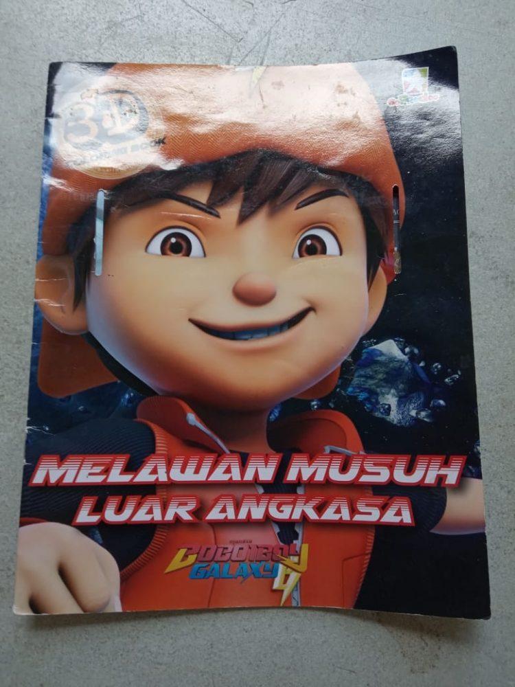 Buku Mewarnai Boboiboy Galaxy Melawan Musuh Luar Angkasa