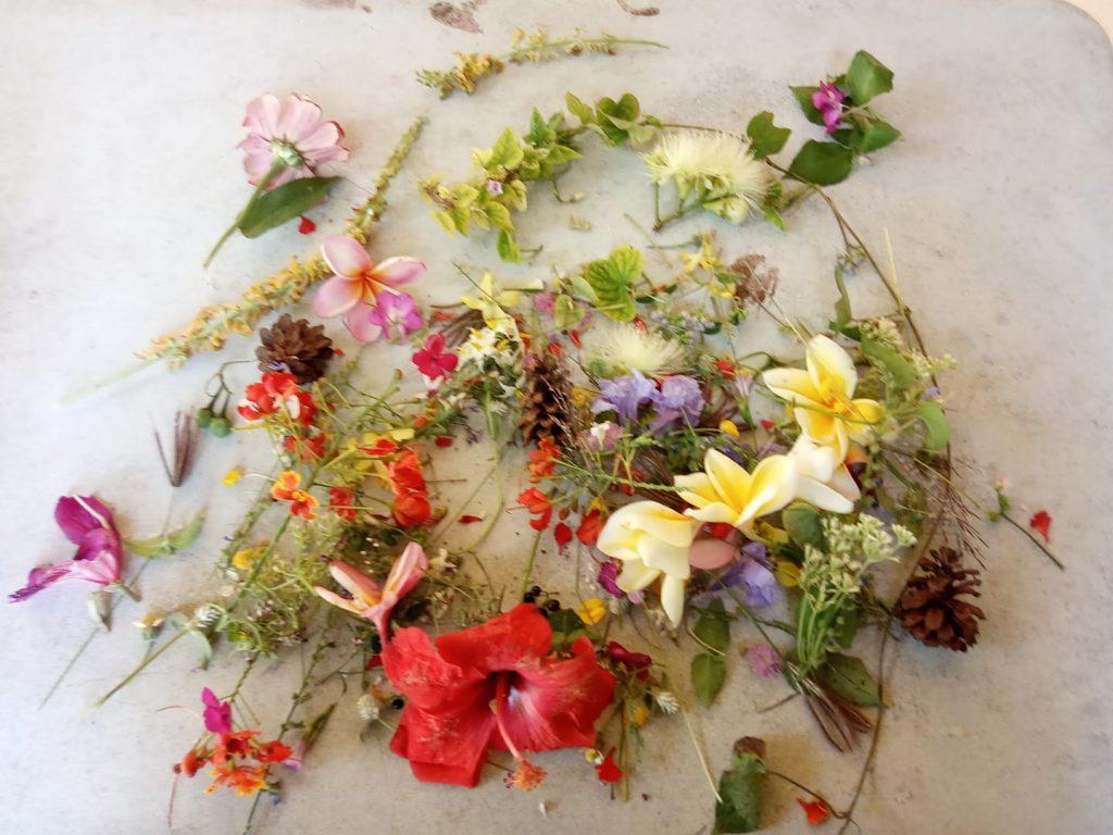 Hasil mulung bunga